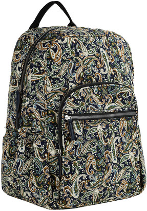Mkf Collection By Mia K. MKF Collection by Mia K. Women's Backpacks Navy/Persimmon - Navy & Persimmon Paisley Quilted Backpack