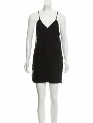 Amiri Lace Mini Dress w/ Tags Black