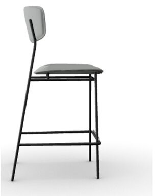 Calligaris Fifties Counter Stool Upholstery: Ash Gray
