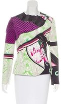 Mary Katrantzou Silk Fitted Jacket