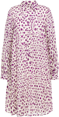 Paul & Joe Fil Coupe Printed Cotton-gauze Mini Shirt Dress