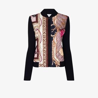 Salvatore Ferragamo Elisabeth-print zip-up cardigan