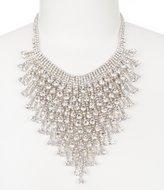 Natasha Accessories Faux-Crystal Bib Statement Necklace