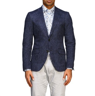 Etro Blazer Single-breasted 2-button Jersey Jacket With Paesley Print