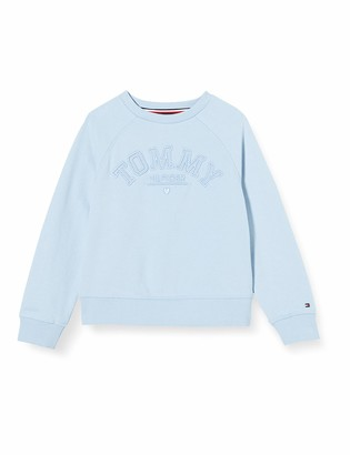 Tommy Hilfiger Girl's Tonal Embroidered Graphic Crew Sweatshirt