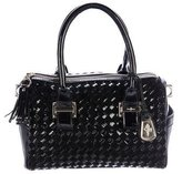 Cole Haan Woven Leather Satchel