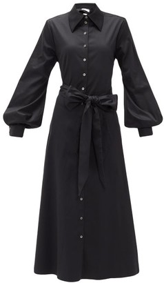Racil Selman Cutout Cotton-blend Shirt Dress - Black