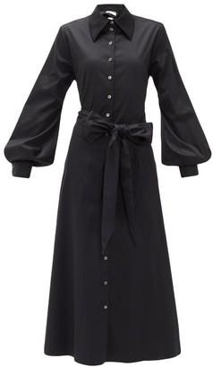Racil Selman Cutout Cotton-blend Shirt Dress - Womens - Black