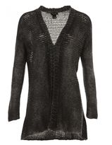 Avant Toi Long Plain Knitted Cardigan In Cashmere And Wool