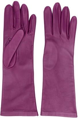 Saint Laurent Logo-Debossed 5-Finger Gloves