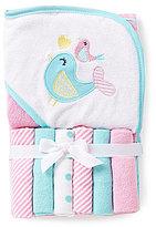 Starting Out Bird Hooded Bath Towel & Washcloths Set