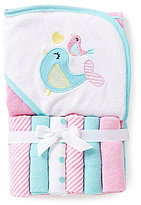 Starting Out Bird Hooded Towel & Washcloths Set