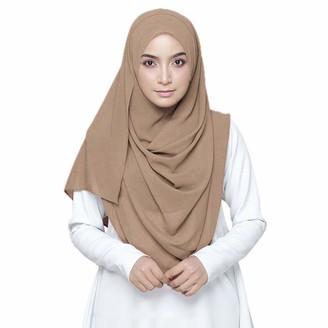 KAVINGKALY Solid Color Plain Chiffon Hijab