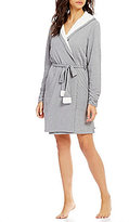 iRelax Plush-Lined Jersey Hooded Wrap Robe