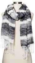 Merona Women's Striped Scarf Black/White