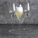 Sur La Table Crystal Mouth-Blown Champagne Glasses, Set of 6