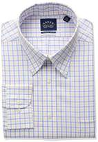 Eagle Men's Flex Regular Fit Tattersall Bd Collar Dress Shirt
