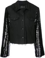 RtA sequined sleeve denim jacket