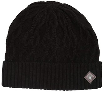 Spyder Cable Knit (Black) Cold Weather Hats