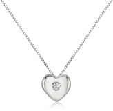 Forzieri 0.15 ct Diamond Heart 18K Gold Necklace