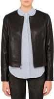 Vince Leather Zip Front Jacket