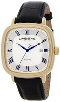 Raymond Weil Men&s Maestro Swiss Automatic Genuine Alligator Strap Watch