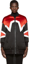 Neil Barrett Tricolor Minimal Cowboy Cocoon Bomber Jacket