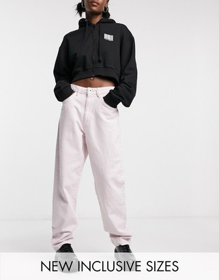 Collusion x014 dad jeans in baby pink