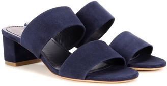 Mansur Gavriel 40mm Double Strap suede sandals