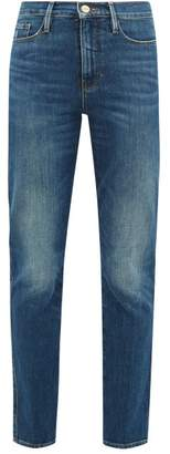 Frame Le Sylvie Straight-leg Cropped Jeans - Womens - Blue