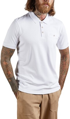 Ted Baker Pumpit Slim Fit Cotton Short Sleeve Polo
