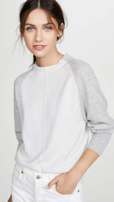 Vince Colorblock Raglan Cashmere Sweater