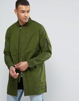 Nike Fc Longline Bomber Jacket In Green 831159-331