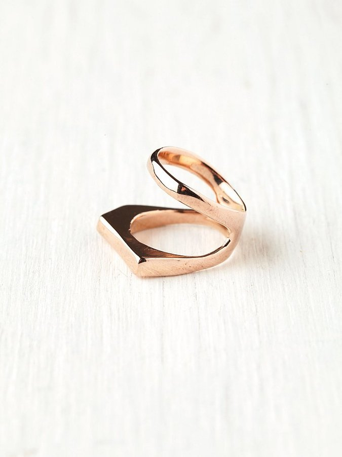 Free People Alibi Linear Knuckle Ring