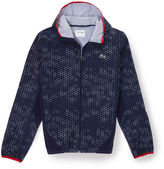 Lacoste Men's Sport Stretch Taffeta Printed Tennis Jacket