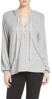 Michael Lauren Women's Carson Lace-Up Lounge Hoodie