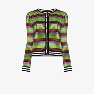 AGR Brushed Stripe Knit Cardigan