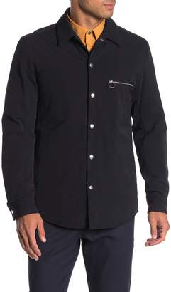 Theory Solid Snap Insulated Shirt Jacket