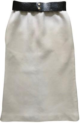 Celine White Wool Skirt for Women