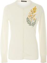 Zac Posen Embroidered Cashmere Silk Cardigan