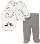 Little Me Girls' Dalmatian Top, Footie Pants & Bib Set