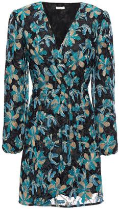 Sandro Bleen Wrap-effect Embroidered Tulle Mini Dress