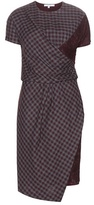 Carven Lace-trimmed Check Dress