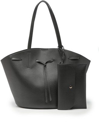 Sole Society Women's Felia Tote Faux Leather Black From