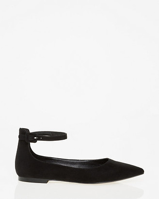 Le Château Pointy Toe Ankle Strap Flat