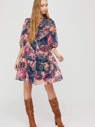 Monsoon Arjana Print Recycled Polyester Dress