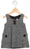 Lili Gaufrette Girls' Wool-Blend Patterned Dress