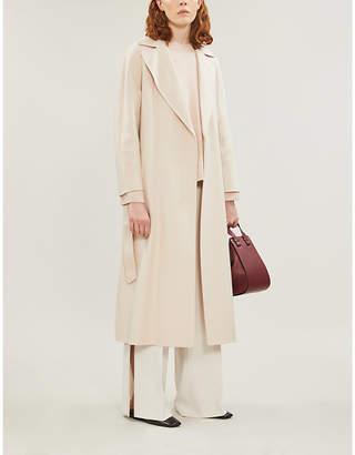 Max Mara Oncia tassle-fringe belt wool-blend coat