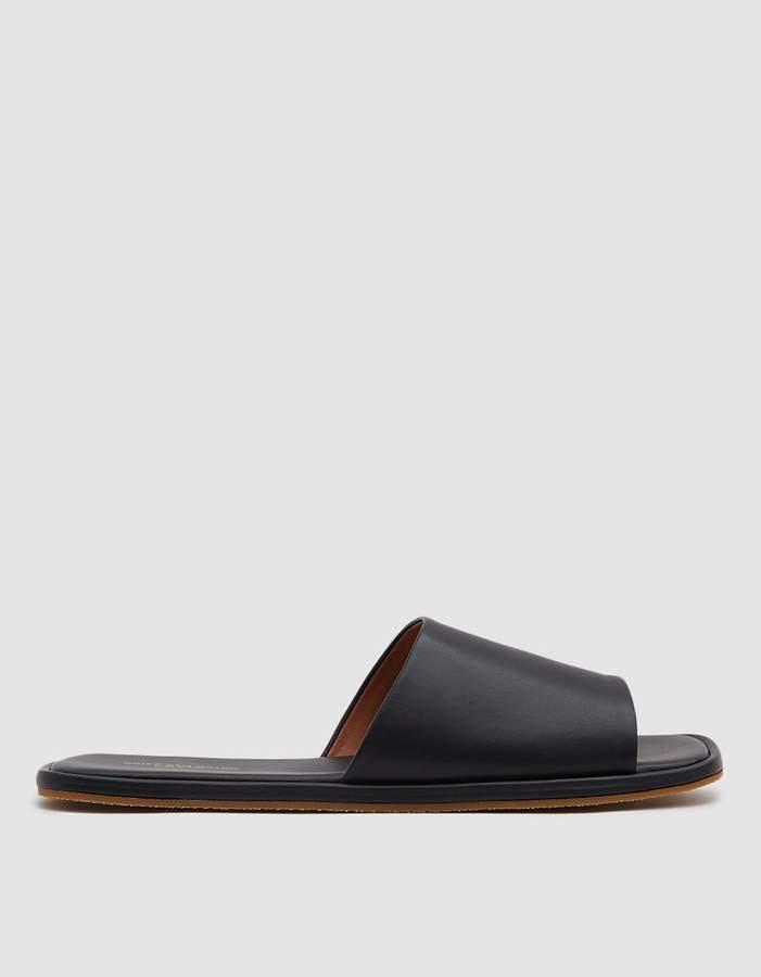 Dries Van Noten Slip-On Sandal in Navy