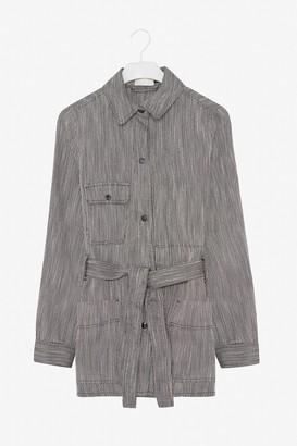 Frisur - Grey Sara Handwoven Safari Jacket - Grey / XS